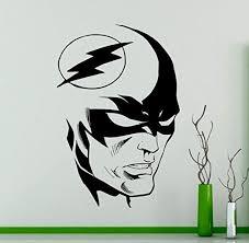 Amazon Com Art Vinyl Decals Mbv Wall Sticker Flash Superhero Comics Wall Sticker Bedroom Decor Kids Room Wall Design Bgdd189 Kitchen Dining
