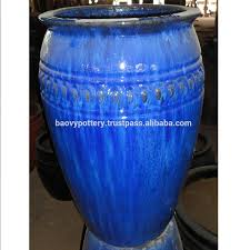 tall outdoor planters and urns glazed