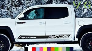 Toyota Tacoma Vinyl Decal Sticker Graphics Trd Sport Side Door X2 Any Color Ebay