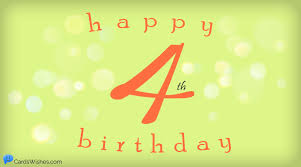 Happy 4th Birthday - Cool Birthday Wishes for 4-Year-Olds