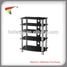 five layers black tempered glass tv