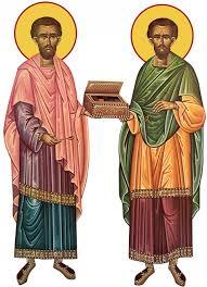 Sfinții Mucenici Doctori fără de arginți, Cosma și Damian, din ...