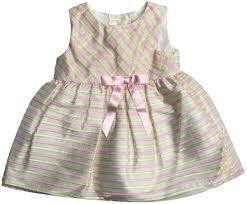 Pretty As A Picture Newborn Girls Sleeveless Pastel Stripe Dress ...