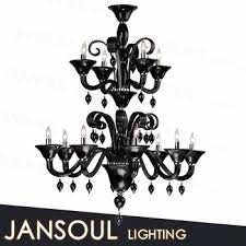 antique black murano glass chandelier