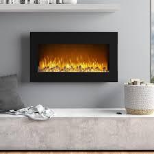 flat wall fireplace wayfair