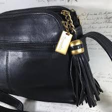 black leather purse shoulder bag