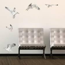 Seagulls On Wall Behind Chairs Wall Decals Decor Wallsneedlove