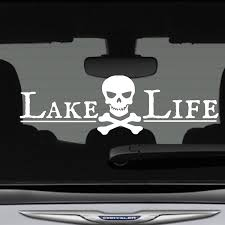 Amazon Com Lake Life Decal Bumper Sticker Pirate Skull Crossbones 12 In X 3 In Fits Car Truck Suv Boat Motorcycle Jet Ski And More Premium Vinyl Car Graphics