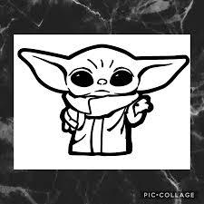 Pin By Bethany Terry On Baby Yoda Yoda Sticker Yoda Decals Yoda Drawing