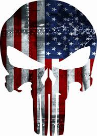 Punisher American Usa Sniper Color Flag Skull Die Cut Vinyl Decal Arrowhead Outdoor Products