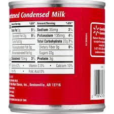 sweetened condensed milk ings label