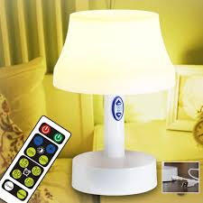 Amazon Com Led Night Light Battery Operated Nursery Lamps With Remote Control Portable 5 Stage Dimmable Table Lamp With Timer For Bedroom Kids Room And Other Room Home Improvement