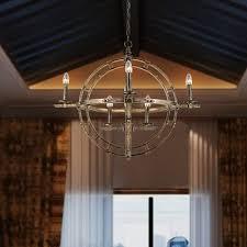 8 lights globe chandelier vintage style