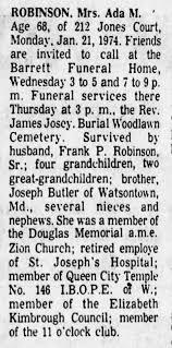 Ada Robinson Obituary - Newspapers.com