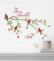 Dcwv Home Christmas Wall Decal Merry Christmas With Birds Jo Ann Christmas Wall Decal Holiday Wall Decor Holiday Crafts