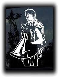 Daryl Dixon Walking Dead Custom Sticker Decal Custom Decals Veggie Art Custom Window Decals