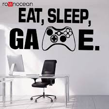 Gamer Wall Decor Playstation Controller Wall Decal Eat Sleep Game Decor Video Game Vinyl Sticker Kids Bedroom Decals 3090 Wall Stickers Aliexpress