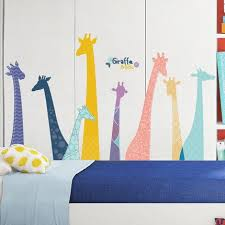 Colorful Giraffe Cute Animals Wall Decals Kids Room Home Decors Lovely House Decoration Removable Baby Boy Stickers Nursery Kids Thefuns On Artfire