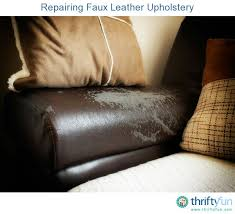 repairing faux leather upholstery