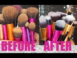 filthy makeup brushes beauty blenders