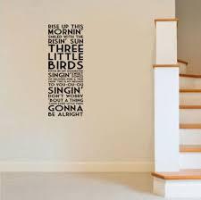 G269 Bob Marley Three Little Birds Song Lyrics Quote Vinyl Wall Decal Borizcustom