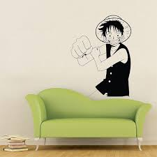 One Piece Luffy Straw Hat Pirate Vinyl Wall Art Decal