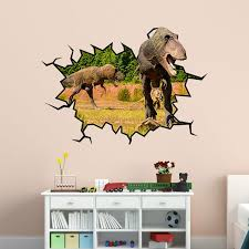 East Urban Home T Rex Dinosaur Hole Wall Decal Wayfair