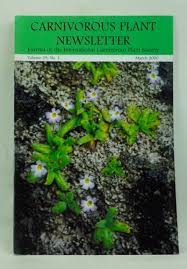 Carnivorous Plant Newsletter: Official Journal of the International  Carnivorous Plant Society, Volume 29, Number 1 March 2000 | Barry A.  Meyers-Rice, Jan Schlauer, Ivan Snyder, Sean