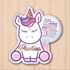 Baby Unicornio Invitaciones Invitaciones Unicornio Invitacion