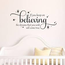Amazon Com Wall Quote If You Keep On Believing Disney Cinderella Girls Nursery Inspirational Fairy Tale Decor Vinyl Decal Dreams That You Wish Home Kitchen