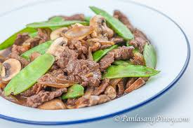 asian beef with mushroom panlasang pinoy