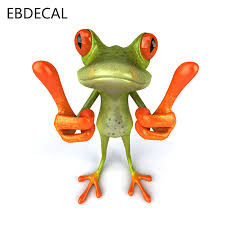 Ebdecal Frogs For Auto Car Bumper Window Wall Decal Sticker Decals Diy Decor Ct6787 Car Stickers Aliexpress