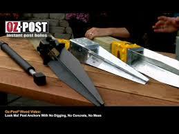 Oz Post Wood Post Anchors Youtube