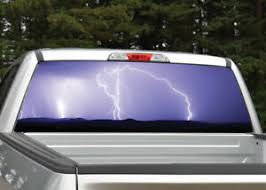 Lightning Storm Purple Rear Window Decal Graphic For Truck Suv Ebay