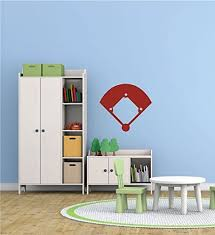 Baseball Wall Decals Baseball Softball Field Sticker Design For Kids Room Sports Fans Home Decor Customvinyldecor Com