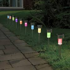 10 pack colour changing solar powered