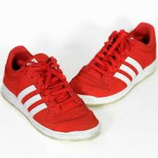 top ten shoes size 11 red white leather