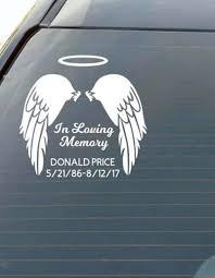 In Loving Memory Decal Memorial Sticker In Memory Car Decal Etsy