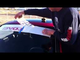 Ron Paul Revolution Windshield Sticker Step By Step Quick Installation Car Truck Auto Youtube
