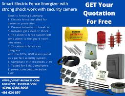 Electric Fence Electronics Cctv Security Products On Carousell