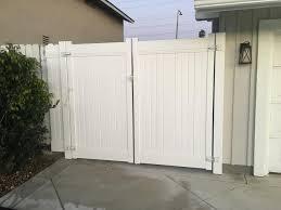 Gavin S Fencing More White Vinyl Double Swing Gates Facebook