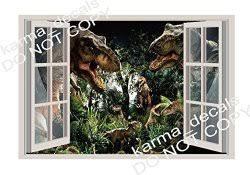 Jurassic World Dinosaur Theme Park 3d Window Decal Wall Sticker Art Mural 5