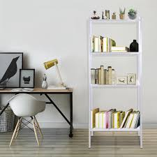 wall leaning ladder shelf bookcase