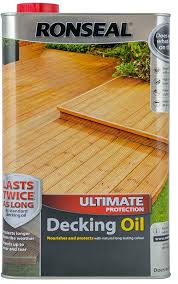 Ronseal Ultimate Protection Decking Oil Natural 5l Amazon Co Uk Diy Tools