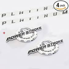 Amazon Com Set Oem Chrome 6 0l Power Stroke Super Duty Plus Platinum Emblem 3d Nameplate Badge Powerstroke Replacement For F250 F350 Pickup Automotive
