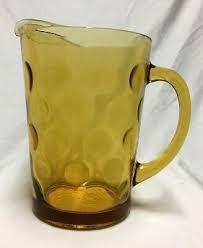vintage hazel atlas amber glass serving