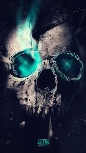 free blue skull wallpaper