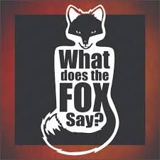 What Does The Fox Say Vinyl Decal On Storenvy