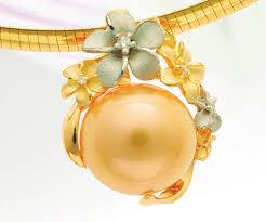 18k golden south sea pearl slide pp