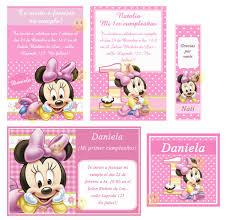 Tarjetas De Cumpleanos De Minnie Mouse De Bebe Para Modificar Imagui